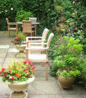 Garden at Coombe House residential care home